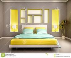 da letto gialla illustrazione dell interno moderno della da letto