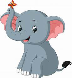 desenho cartoon best elephant sitting illustrations royalty free vector