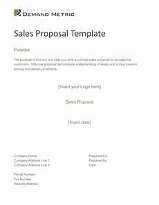 Proposal Sales Sales Proposal Template