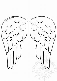 Angel Wings Template Paper Angel Wings Template Vector Coloring Page