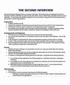 Questions For A Second Interview Free 6 Interview Agenda Examples Amp Samples In Pdf Doc