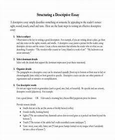 Examples Of Descriptive Essay Free 27 Descriptive Essay Examples Amp Samples In Pdf Doc