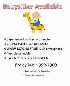 Babysitter Available Ads Babysitter Available