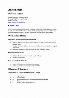 Resume For Teenager Template A Teenage Good Resume Examples Student Resume Job