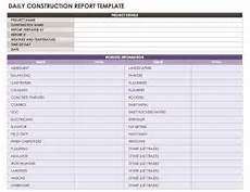 Daily Report Pdf Construction Daily Report Template Excel