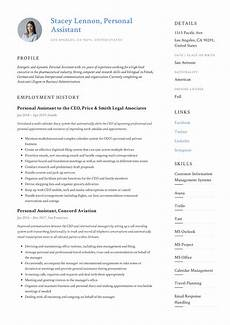 Personal Interest Resume Personal Assistant Resume Amp Writing Guide 12 Templates