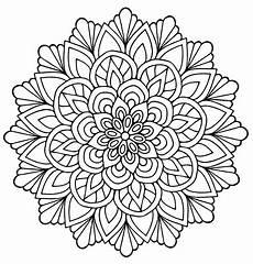 Malvorlagen Blumen Mandala Mandala Forming A Flower With Regular Lines Mandalas