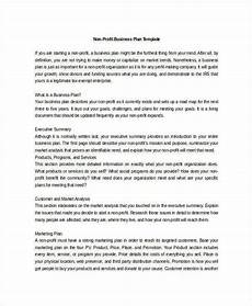 Nonprofit Business Plan Template Non Profit Business Plan 14 Pdf Word Documents
