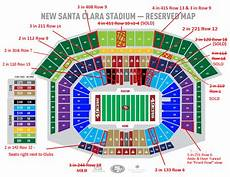 49ers Seating Chart Seats Rights For 49ers Tickets For Sale