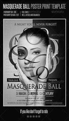 Masquerade Poster Template Masquerade Ball Poster Print Template Graphicriver