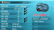 Beldum Iv Chart Pokemon X And Y How To Breed Perfect Genderless 31 Iv