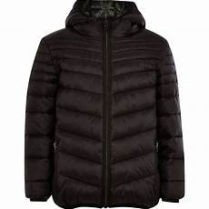 boys black padded puffer jacket river island