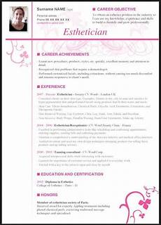 New Esthetician Resumes Esthetician Resume With No Experience With Images