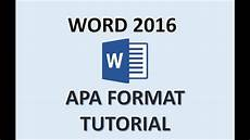 Apa Presentation Format Word 2016 Apa Format How To Do An Apa Style Paper In