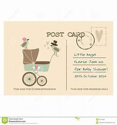 Baby Post Cards Vintage Cute Baby Shower Greeting Postcard Invitation