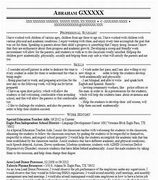 Resume Objective For Education Special Education Teacher Aide Objectives Resume
