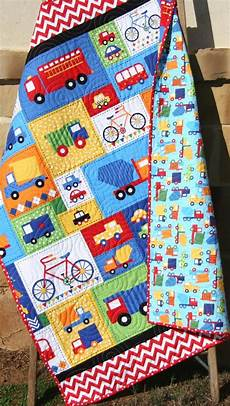 vehicle baby boy quilt primary blue toddler bedding car
