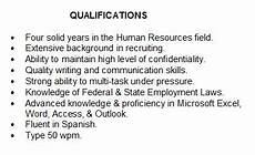 List Of Special Skills And Qualifications Summary Of Qualifications How To Describe Yourself On