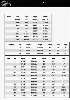 Splendid Littles Size Chart Zulily Size Chart For Little Lass Size Chart Toddler