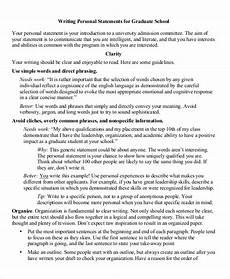 Graduate Application Essay Sample Free 8 Sample Personal Statement For Graduate School In