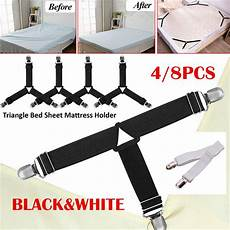8pcs bed sheet holders and straps adjustable fasteners