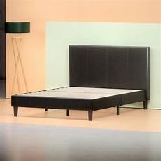 gerard faux leather platform bed frame zinus