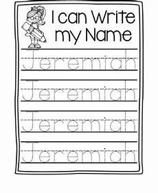 Writing Name Template Name Writing Practice Name Trace Paper Editable By
