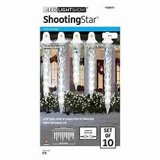 White Shooting Star Icicle Light Set Gemmy Lightshow Shooting Star Icy White Led Icicle Lights