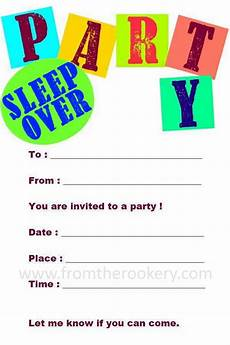 Sleepover Invitation Printable Printable Sleepover Invitations
