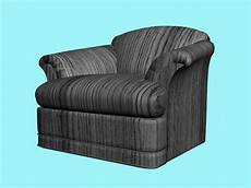 Black Sofa Chair 3d Image by Striped Sofa Chair Free 3d Model 3ds Max Vray