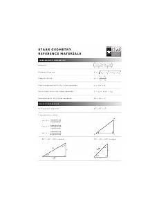 Staar Geometry Formula Chart Staar Geometry Reference Materials Printable Pdf Download
