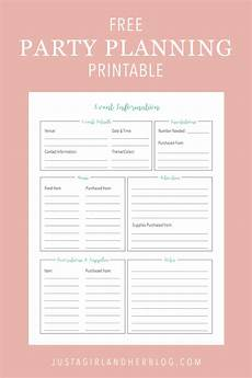 Party Planning Templates Party Planning Organized Free Printables Included
