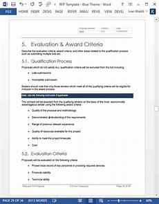 Rfp Templates Word Request For Proposal Rfp Template Ms Word Excel