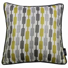 mcalister textiles ochre yellow grey cushion