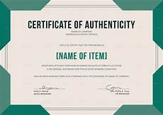 Make A Certificate Of Authenticity Elegant Certificate Of Authenticity Design Template In Psd