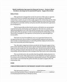 Cohabitation Agreement Sample Cohabitation Agreement Template 8 Free Word Pdf Format