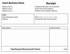 Receipt Template Word Document Word Receipt Template Free Template And Example
