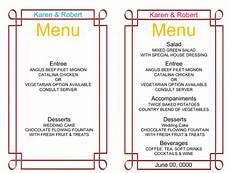 Sample Menu Cards 9 Free Wedding Menu Templates Beautiful Designs Word