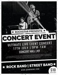 Free Concert Flyer Templates Pop Concert Event Flyer Design Template In Psd Word