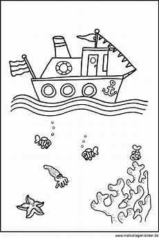 Ausmalbilder Fische Meer Schiff Boot Kostenlose Ausmalbilder F 252 R Kinder