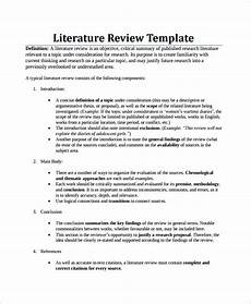What Is Literture Review Example Of Literature Review Thesis Writing Literature