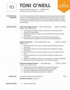 High School Teaching Resume Best Teacher Resume Example Livecareer