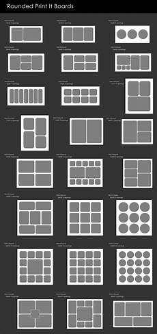 Photos Layout Templates Rounded Templates Photoshop Actions Package For Photoshop