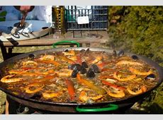 Authentic Seafood Paella Recipe and Ingredients in Spain