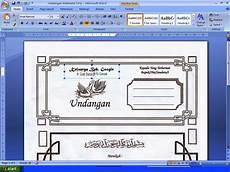 contoh undangan khitanan format corel draw contoh isi