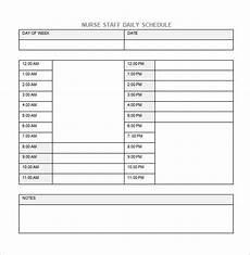 Nursing Templates 5 Nursing Schedule Templates Word Pdf Excel Google