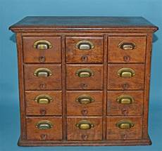 antique oak brass library card catalog cabinet