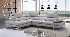 Gray Sectional Sofa 3d Image by J M Modern Grey Italian Leather Adjustable