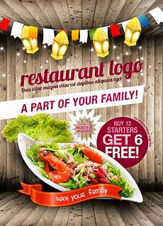 Restaurant Poster 18 Restaurant Print Amp Web Free Psd Templates