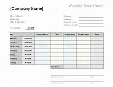 Standard Time Sheet Weekly Time Sheet With Tasks And Overtime